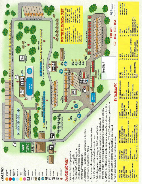 Chris Campground Site Map